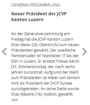 luzernerzeitung.com: Neuer Präsident der JCVP Kanton Luzern